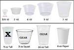 Paper / Plastic Cups (Priced by size)