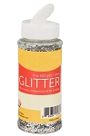 Silver Glitter 4 oz Shaker Bottle