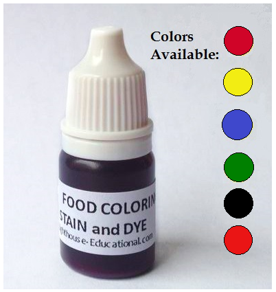 Food Coloring 5 ml -  Blue, Green, Red, Tomato Red, Yellow