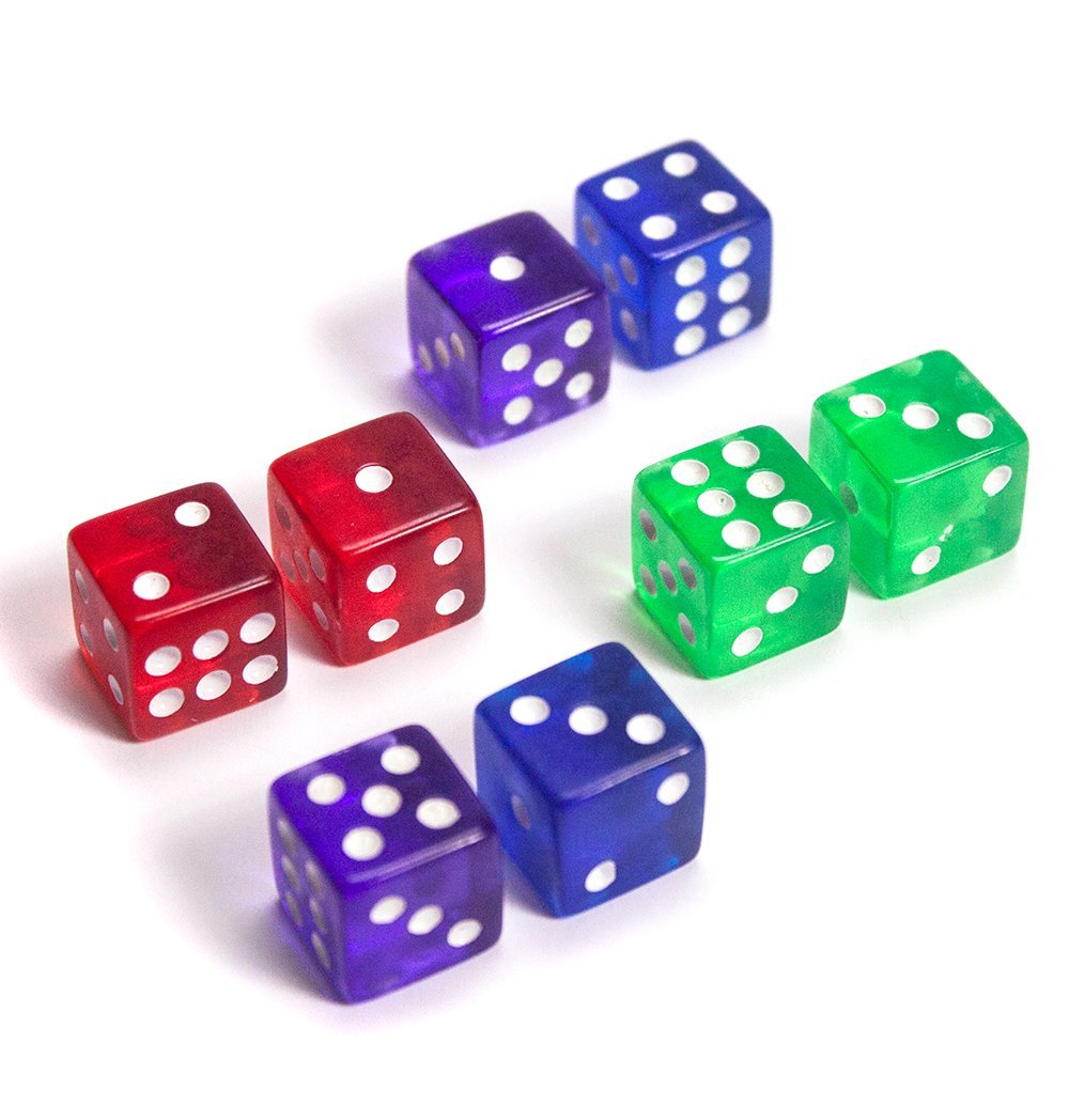 Dice 16mm Standard Size