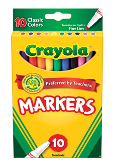 Crayola Colored Markers 10 Pack