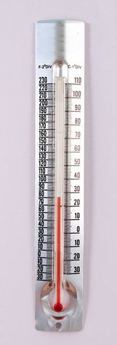Thermometer Dual Range Flat Metal-Backed  - Immersible