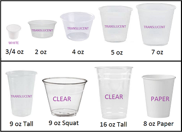 Disposable Paper / Plastic Cups (Priced by size)