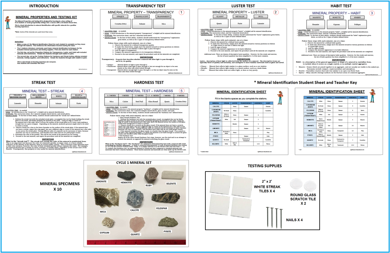 Mineral Identification Kit - In Stock