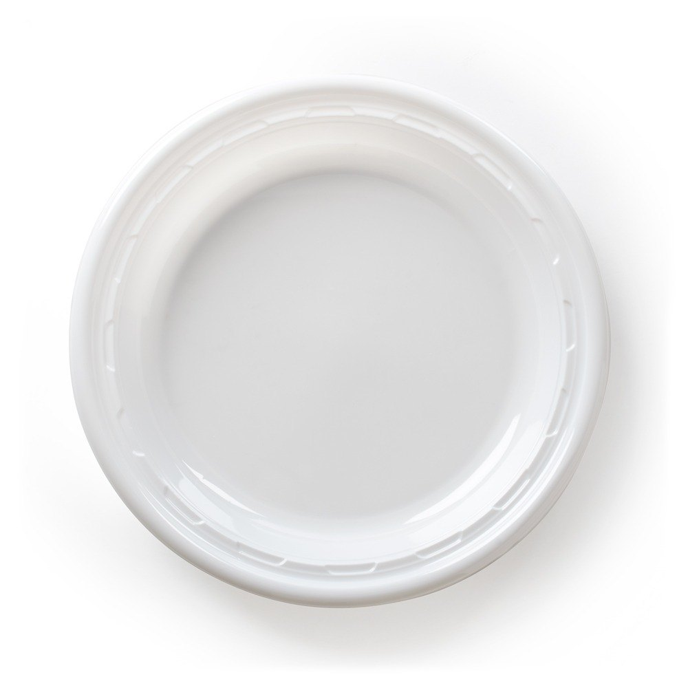 Plastic 6 Inch Disposable Saucer