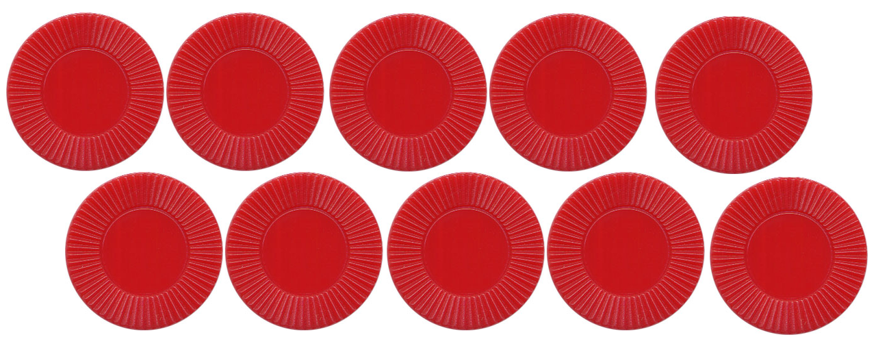 Red Round Plastic Chips 7/8