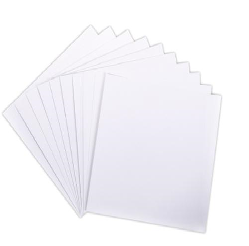 White Heavyweight Tagboard (Cardstock) Paper - 10 sheets