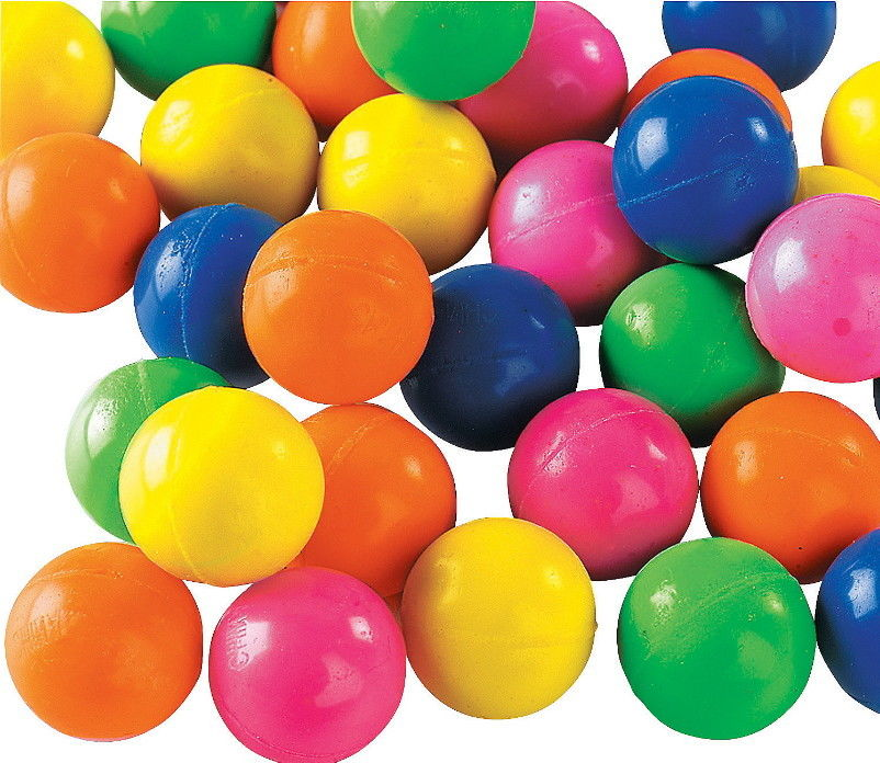 Rubber High Bounce Bouncy Balls - 10 pack