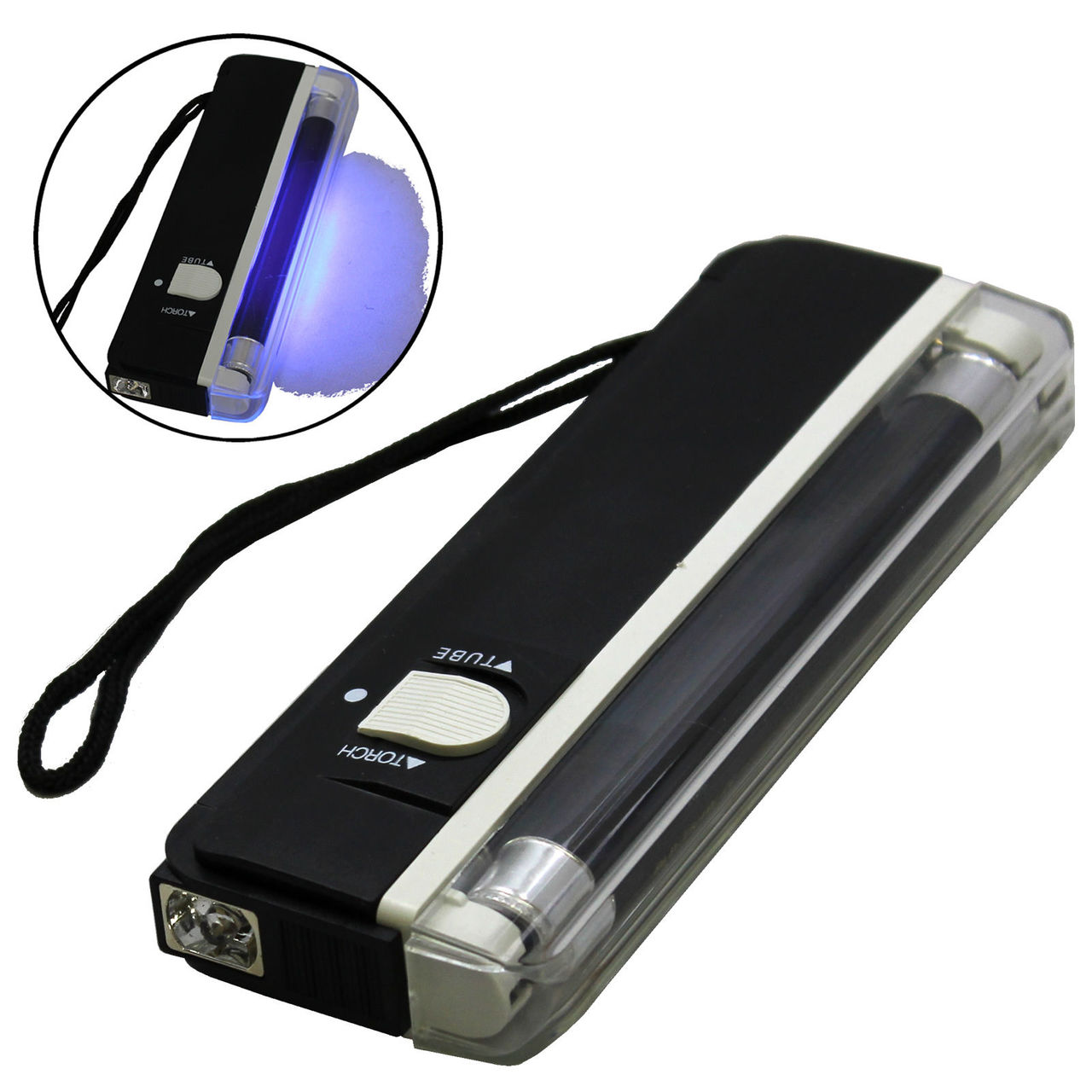 Handheld UV  Blacklight with Flashlight and Strap