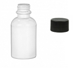 2 ounce (60ml) White Plastic Bottle with Lid