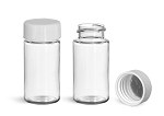 20 ml Clear PET Plastic Vial with Foil Lined Screw-on Cap