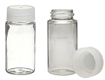 20 ml Clear PET Plastic Vial with Screw-on Cap