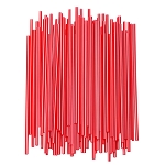 Slim Red Straws for Crafts - 7.5