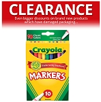CLEARANCE Crayola Colored Markers 10 Pack (Packaging damaged - Markers are perfect)
