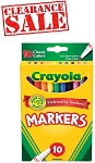 Crayola Colored Markers 10 Pack - Clearance