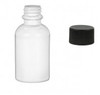 2 ounce White Bottle with Lid
