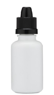 30 ml White Dropper Bottle with Black Cap