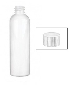 4 Ounce Empty Plastic Bottle with White Cap