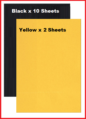 Black and Yellow Construction Paper Packet
