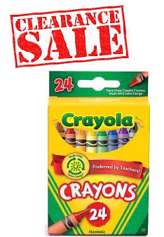 Crayola Crayons 24 Pack - Clearance