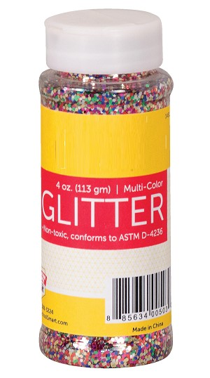Multi Color Glitter 4 oz Shaker Bottle