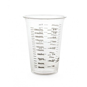 Disposable Measuring Cup Graduated 8 ounce / 240 cc