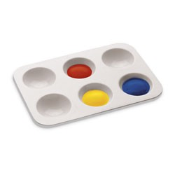 Economy 6 Well Paint Mixing Tray