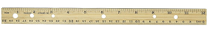 Wood Center Groove Ruler with Binder Holes