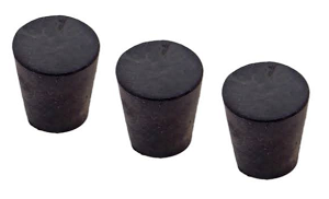 3 Pack Rubber Stoppers for Rockets Size #3
