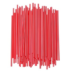 "Slim Red Straws for Crafts - 7.5"" x 1000"